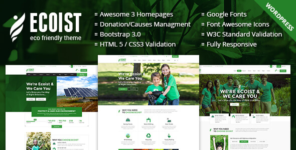 Ecoist - Environment & Non-Profit WordPress Theme