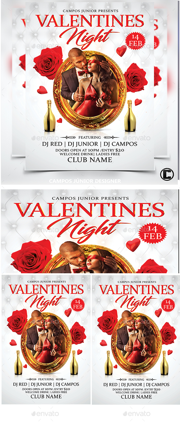 Valentines Nigth- Flyer Template