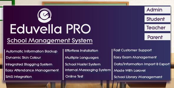 Eduvella - A Professional School Management System ← Laravel-VueJs com