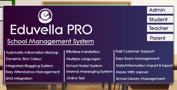 Eduvella - A Professional School Management System