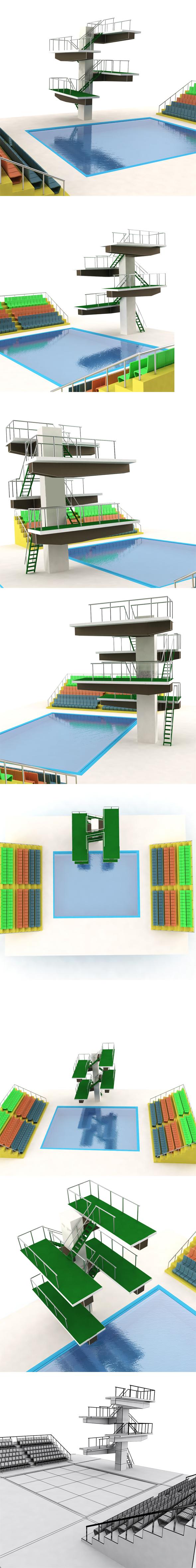 Diving Pool - 3DOcean Item for Sale