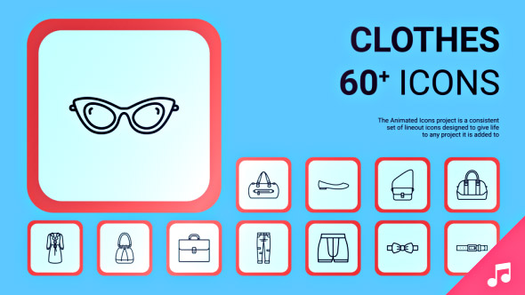 VideoHive Clothes icons and Elements 19414087