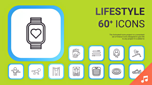VideoHive Lifestyle Icons and Elements 19414112