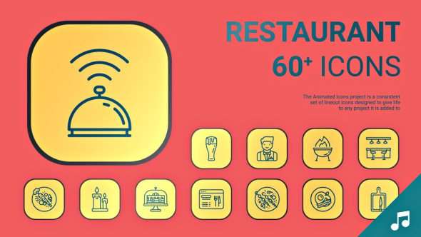 VideoHive Restaurant Icons and Elements 19414180