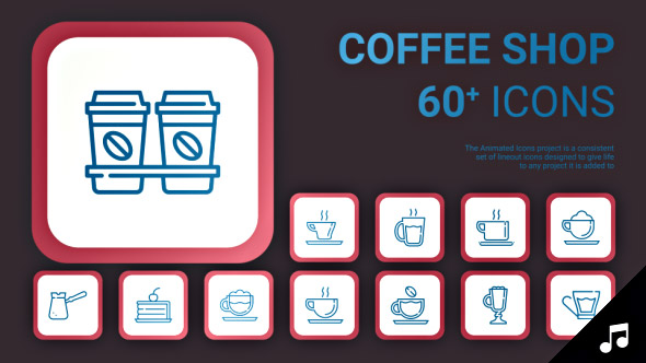 VideoHive Coffee Shop Icons and Elements 19414458