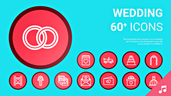 VideoHive Wedding Icons and Elements 19414514