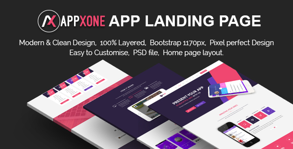 Appxone App Landing Page