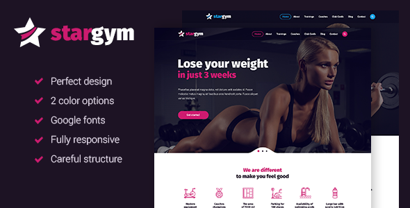 Download Stargym - Responsive Gym & Fitness HTML5 Parallax Template