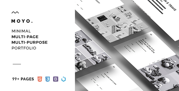 MOYO – Minimal Multi-Web page &amp Multi-Objective Template (Portfolio)