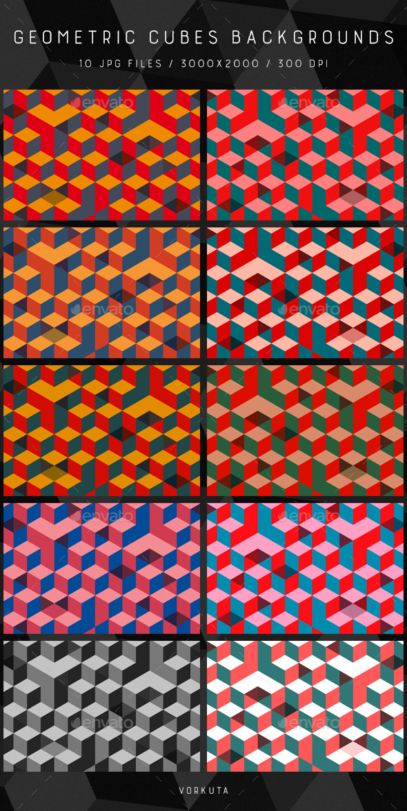 Geometric Cubes | Backgrounds