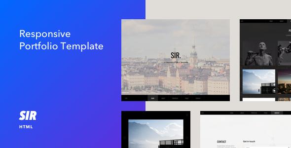 Sir - Responsive HTML5 Portfolio Template