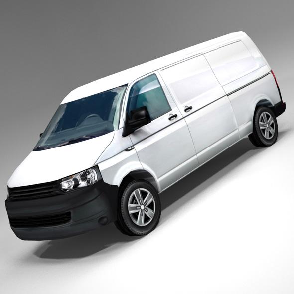 German design panel van low polygonal model - 3DOcean Item for Sale