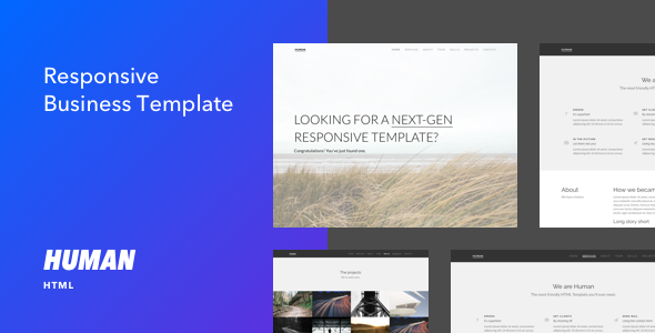 Human - Responsive HTML5 Business Template
