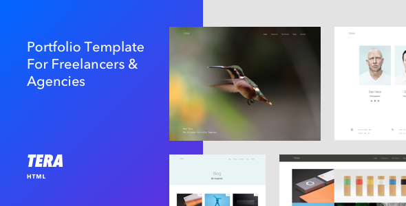 Tera - Responsive HTML5 Portfolio Template