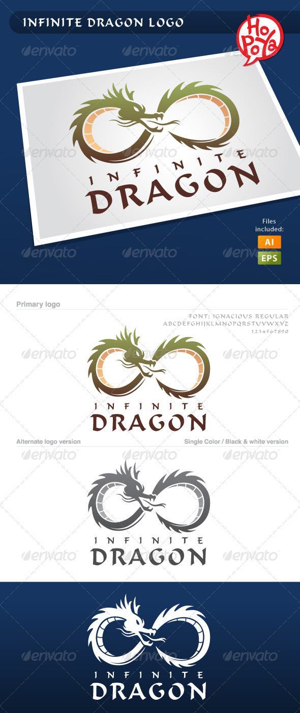 Infinite Dragon Logo - Animals Logo Templates