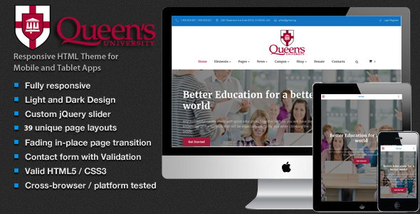 Education – University, School, Event and Course Theme HTML