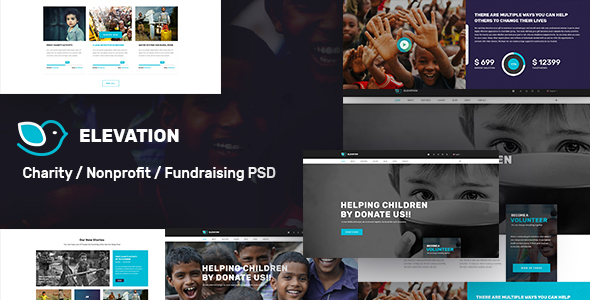 ELEVATION – Charity / Nonprofit / Fundraising PSD Template (Nonprofit)