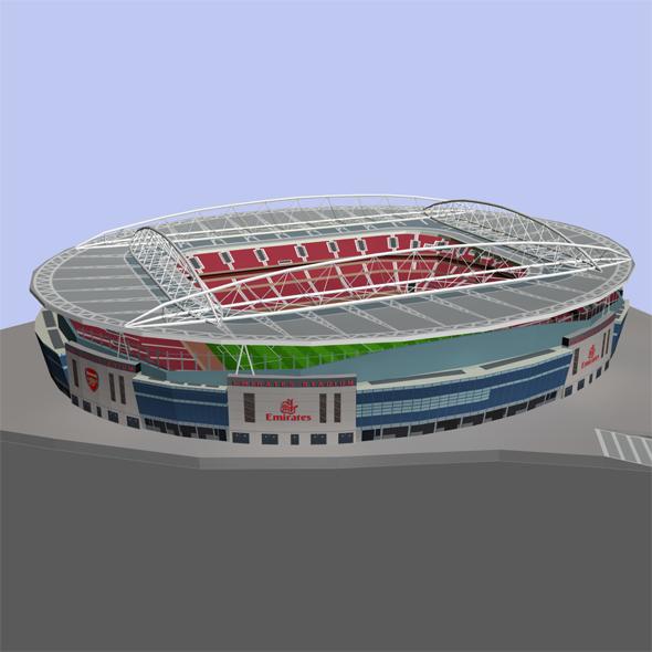 Emirates Stadium Low Poly - 3DOcean Item for Sale