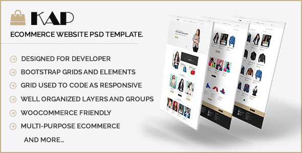 KAP - Elegant eCommerce or WooCommerce PSD Template