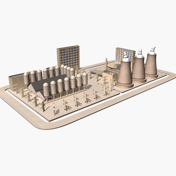 Nuclear Power Plant - 3DOcean Item for Sale