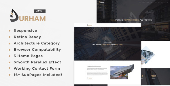 Download Durham- Architecture, Interior and Renovation Template
