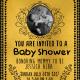 Golden Baby Shower Template Card