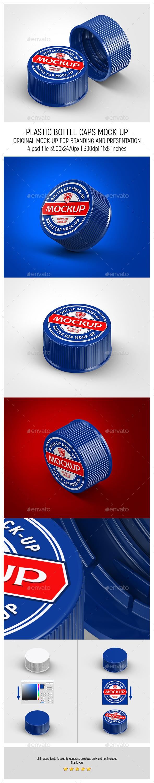 Plastic Bottle Caps Mock-up