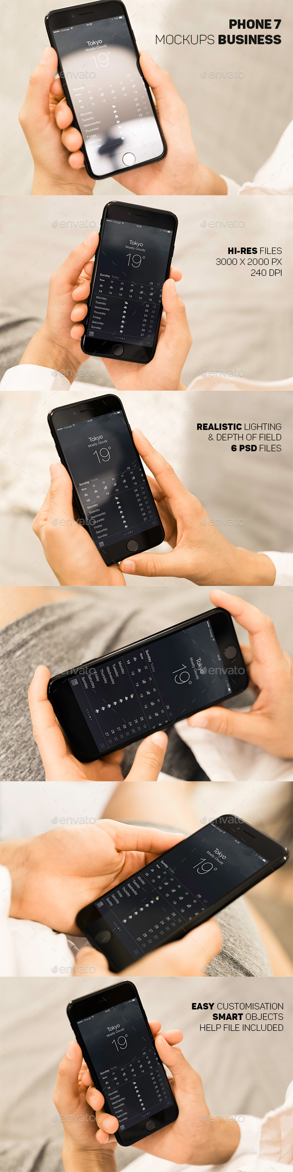 Phone 7 Hand Business Mockup