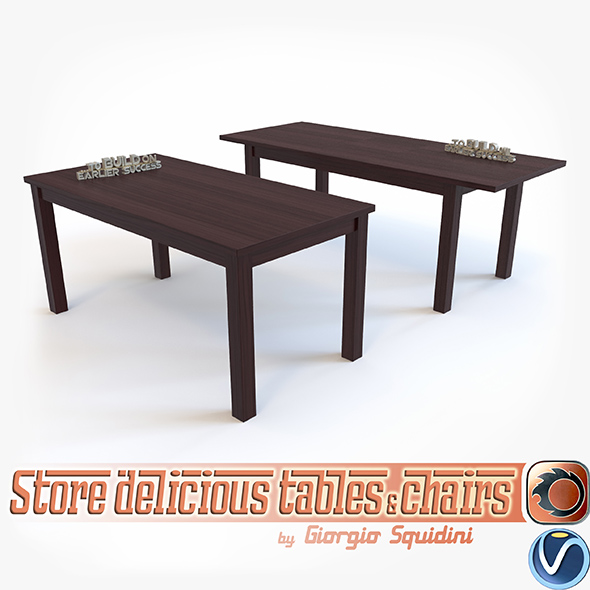Table ERNEST by Halmar - 3DOcean Item for Sale