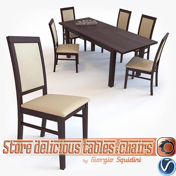 Chair SYLWEK1ECO & Table ERNEST dining set Halmar - 3DOcean Item for Sale