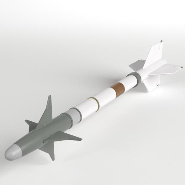 AIM-9M Sidewinder Missile - 3DOcean Item for Sale