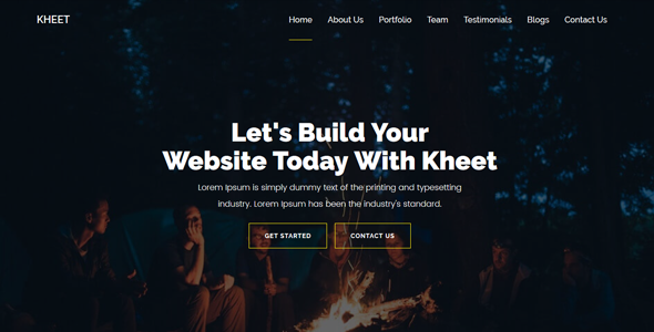 Kheet - One Page MultiPurpose Business/Corporate/Agency Template