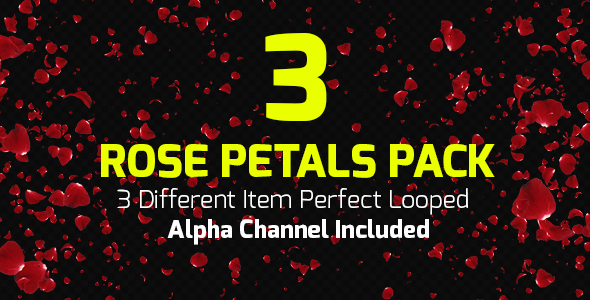 VideoHive Rose Petals Loop Pack 19419854