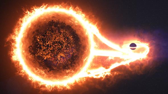 VideoHive Black Hole Eats Star 19419911