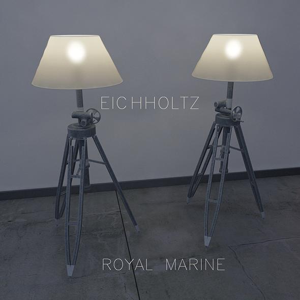 Eichholtz  Floor lamp Royal Marine - 3DOcean Item for Sale