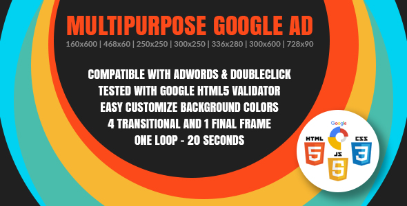 Multipurpose Google Ad - Animated HTML5 Google Banner Templates for AdWords and DoubleClick Studio