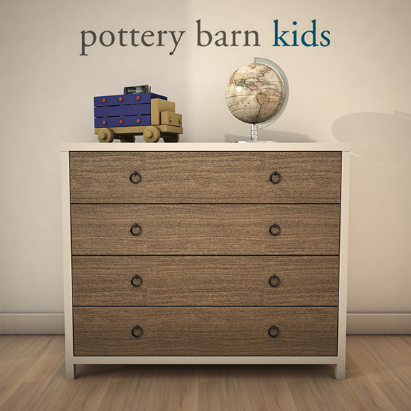PotteryBarn-JordanDresser - 3DOcean Item for Sale
