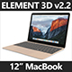 Element 3D 2016 12 Inch Macbook