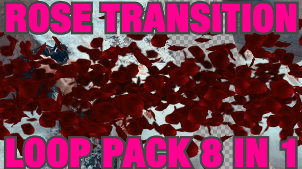 VideoHive Rose Transition Pack 8 in 1 19420846