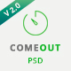 ComeOut – Coming Soon Multipurpose PSD Template