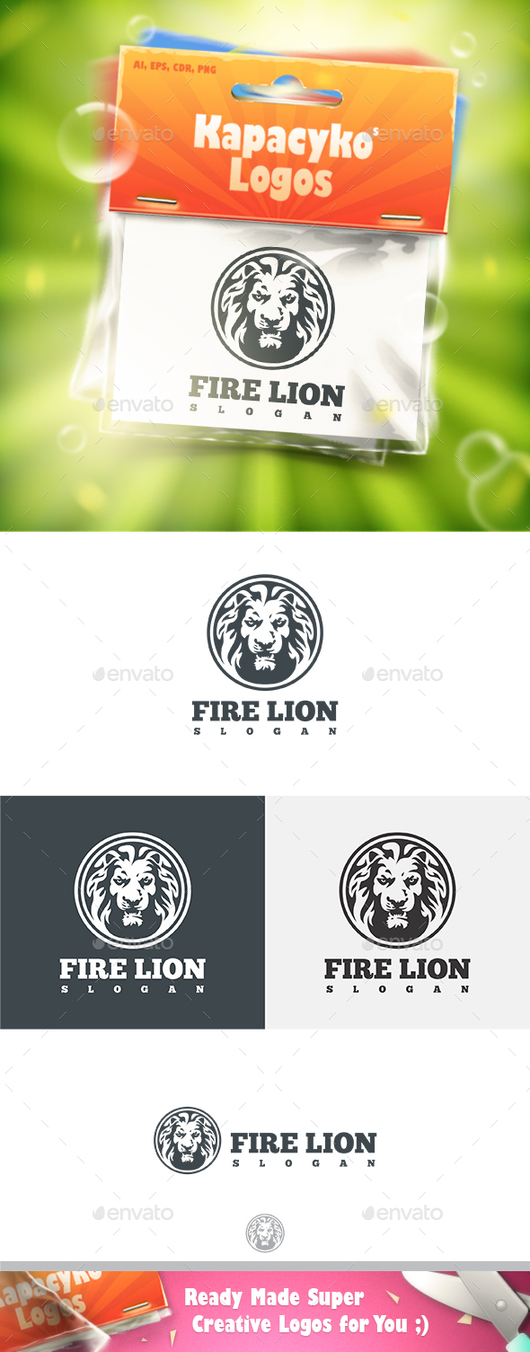 Fire Lion Logo