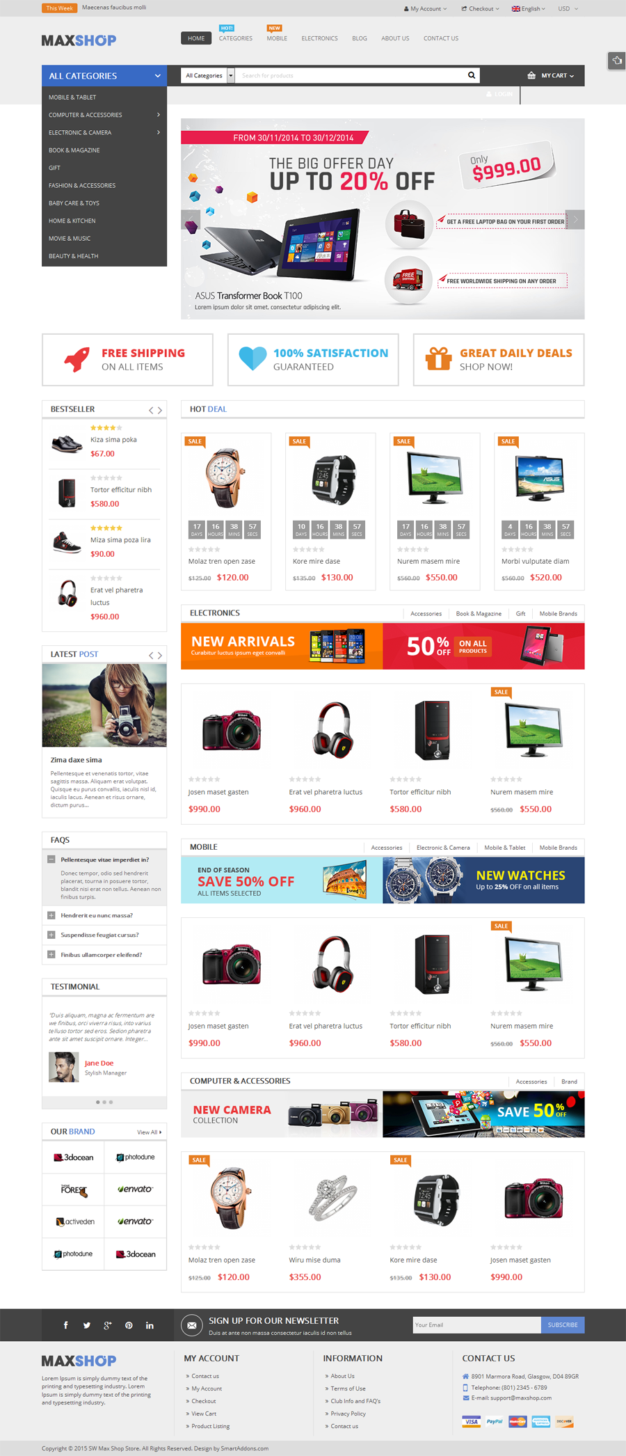 Maxshop Multi Purpose Responsive Woocommerce Theme By