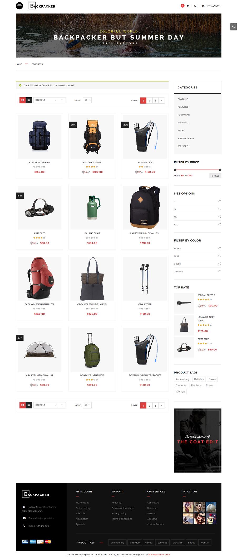 backpacker responsive woocommerce wordpress theme by. Black Bedroom Furniture Sets. Home Design Ideas