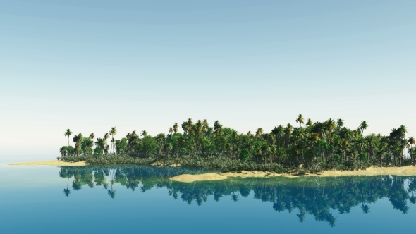VideoHive Tropical Island with Palms 19422053
