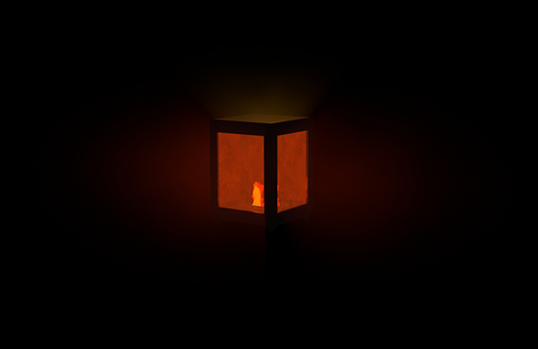 Lantern With Animated Flame - 3DOcean Item for Sale