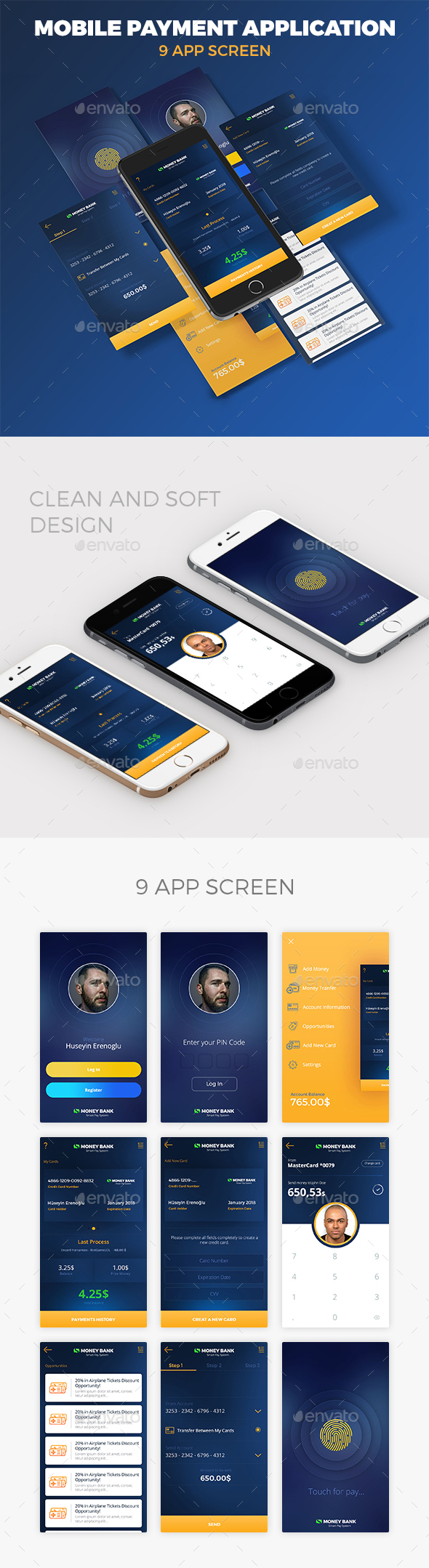 Envelope Mail App Startup UI Kit (User Interfaces)