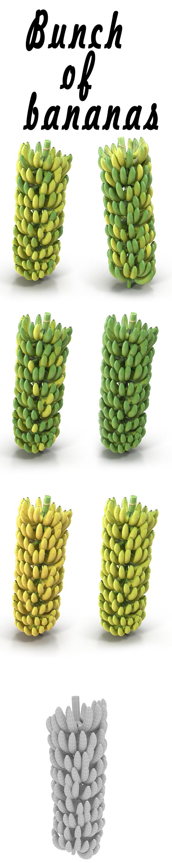 Bunch of bananas - 3DOcean Item for Sale