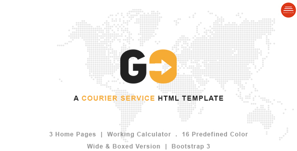 GO – A Courier & Delivery Service HTML Template