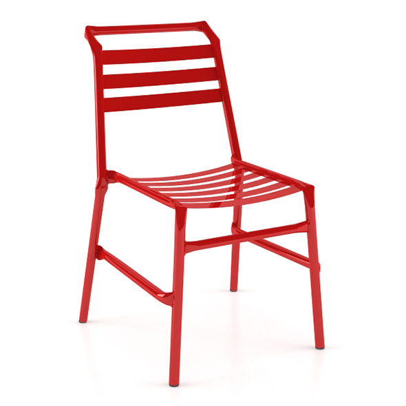 Straw O35 Modern Metal Chair - 3DOcean Item for Sale