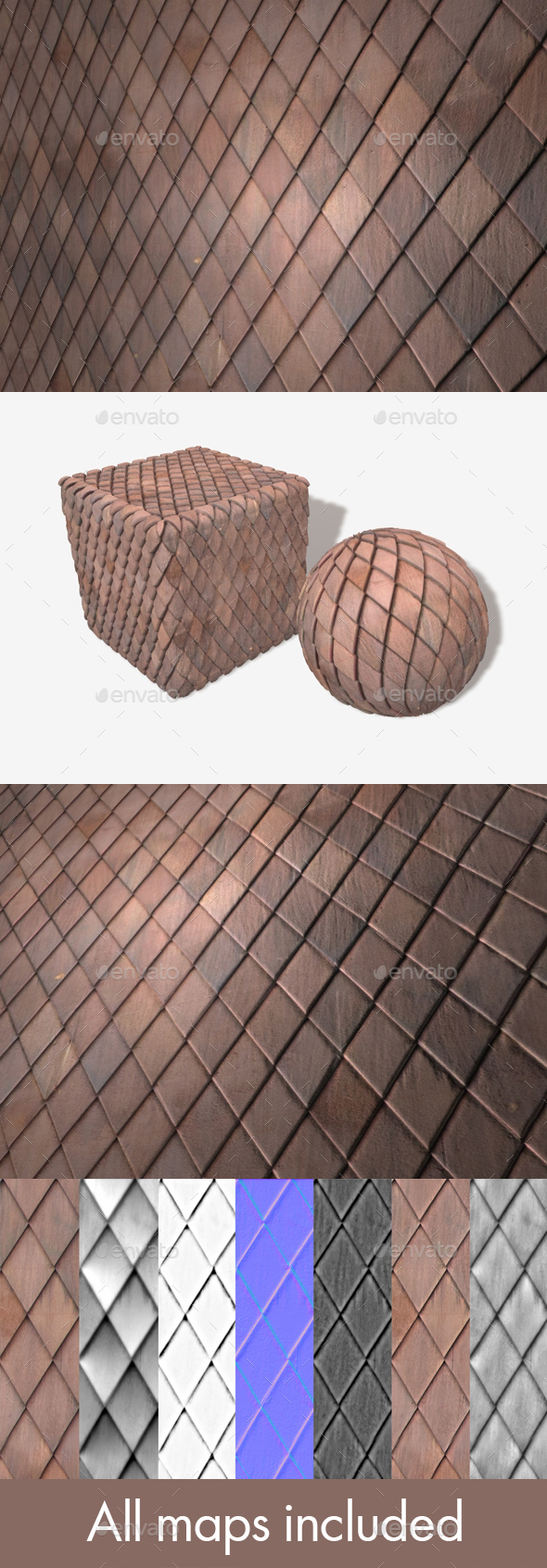 Diamond Wooden Building Tiles Seamless Texture - 3DOcean Item for Sale